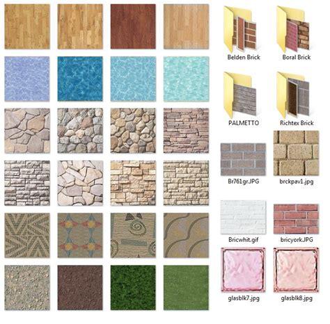 libreria materiali autocad texture di accurender 4 lands