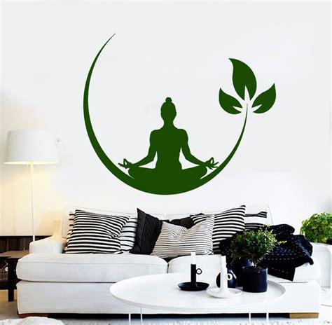 stickers muraux nature zen zen wall decal meditation room design brawny line