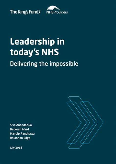 leadership  todays nhs  kings fund