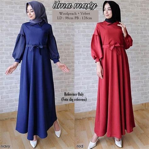 jual baju gamis terbaru  ilma maxi dress modern baju muslim wanita  lapak berkah abadi