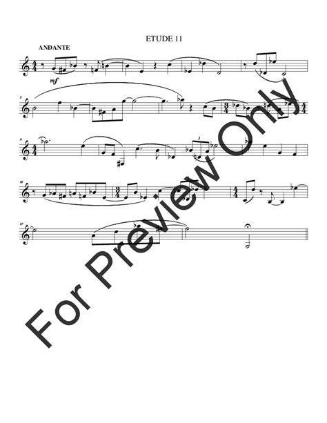 14 etudes for horn horn in f method j w pepper sheet