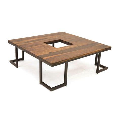 rideaux cuisine design table basse design en bois et métal style industriel