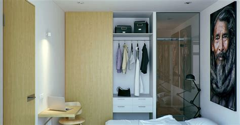Small Apartment With Foldaway Features by Fitted Wardrobes