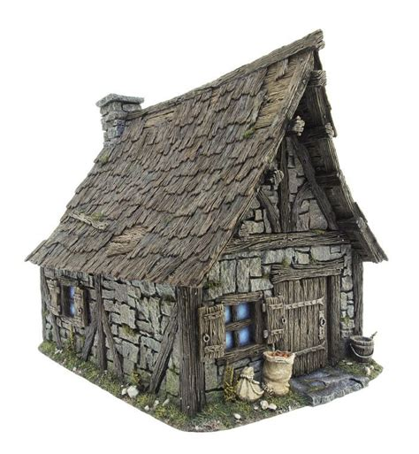 Cottage  Structure In Middle Age  Pinterest Dioramas
