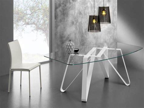 tavoli di vetro tavolo di design vetro e metallo axel