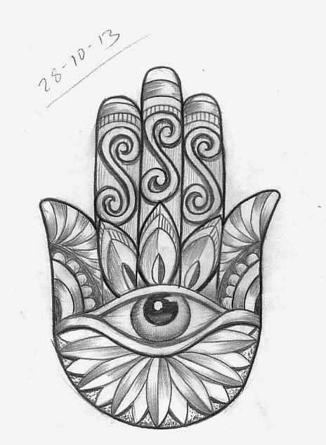 simple hamsa design tattoo - Google Search | Tattoo sketches, Hamsa tattoo, Simple leg tattoos