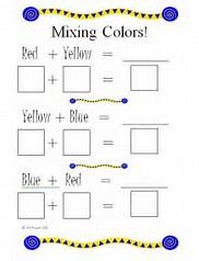 Image result for color primary worksheet