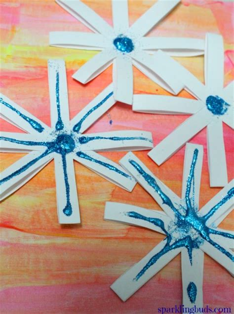 snowflake crafts  kids simple paper snowflakes