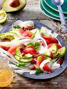 Leichte Salate Rezepte : avocado grapefruit fenchel salat rezept avocado rezepte pinterest ~ Frokenaadalensverden.com Haus und Dekorationen
