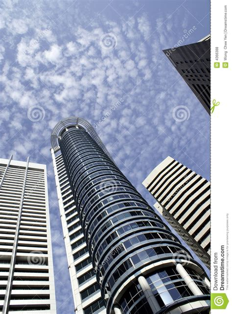 Modern Singapore buildings stock photo Image of skyline