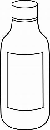 Bottle Clipart Clip Water Bottles Cliparts Medicine Cartoon Line Empty Outline Collection Plastic Clipartpanda Colouring Library Science Doctor Clipground Panda sketch template