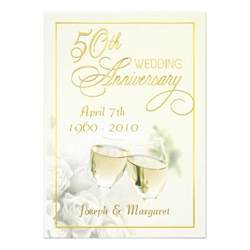 golden wedding anniversary invitations 50th golden wedding anniversary invitations 5 quot x 7 quot invitation card zazzle