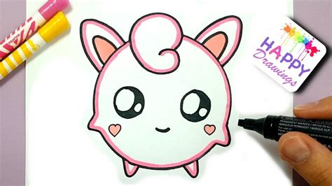 draw pokemon jigglypuff cute step  step easy