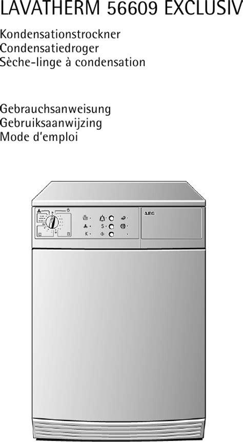 aeg lavatherm 56609 s 232 che linge t 233 l 233 charger pdf mode d emploi francais