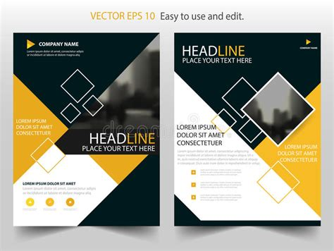 annual report cover in abstract design vector free yellow annual report brochure flyer design template vector