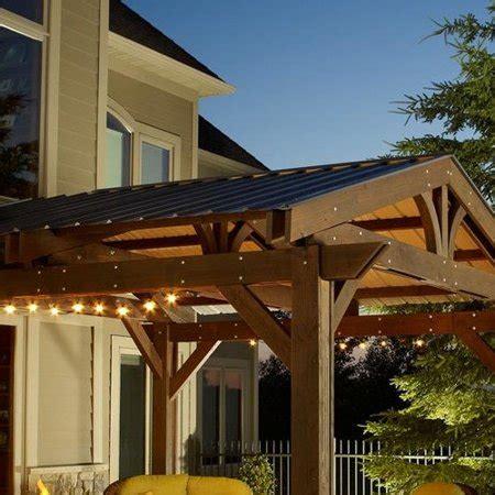 metal roof  lodge ii pergola walmartcom