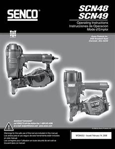 Senco Scn49 Operating Instructions Manual Pdf Download