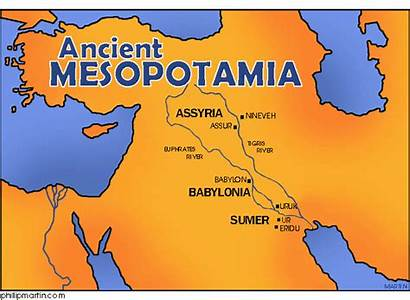 Mesopotamia Map Ancient Modern Current Core Located