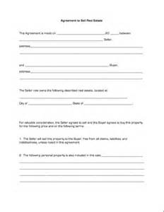 Form to Sell Agreement Real Estate