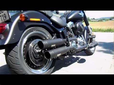 siege fatboy screaming eagle exhaust sound harley fatboy lo doovi