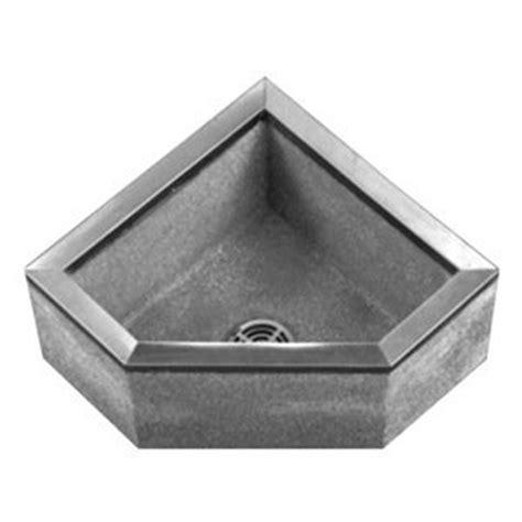 Plastic Corner Mop Sink by Corner Mop Sink 24x24x12in Black White Utility Sinks