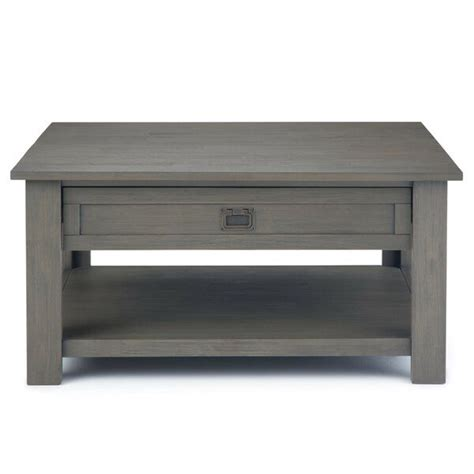 | this modern farmhouse coffee table is so gorgeous! Laforce Coffee Table | Coffee table, Coffee table square, Coffee table grey