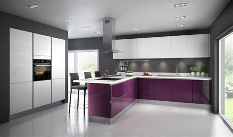 modele couleur cuisine une cuisine aubergine pour ambiance chic inspiration cuisine