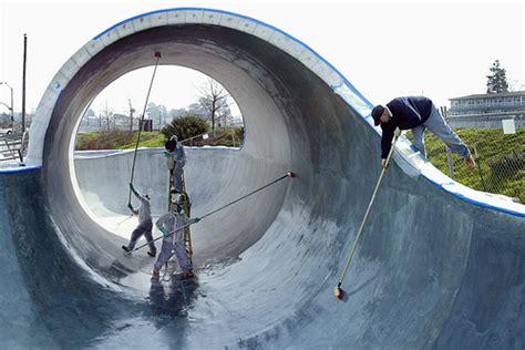 skate park  santa cruz replicates waves  concrete