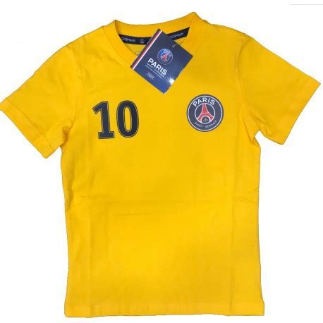 Tee shirt PSG NEYMAR JR 10 yellow   Souvenirs of Paris