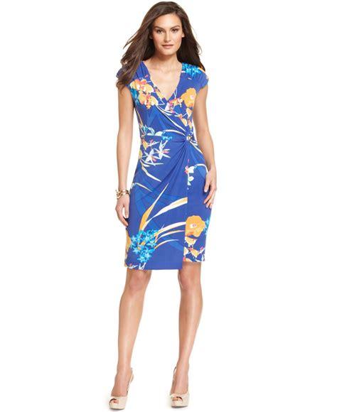Alfani Dress, Short-Sleeve V-Neck Paisley-Print - Womens ...