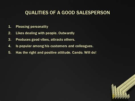 Qualities For A Sales by Sales Person
