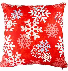christmas snowflake holiday throw pillow red With christmas throws and pillows