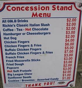 concession stand menu template professional high With concession stand menu template