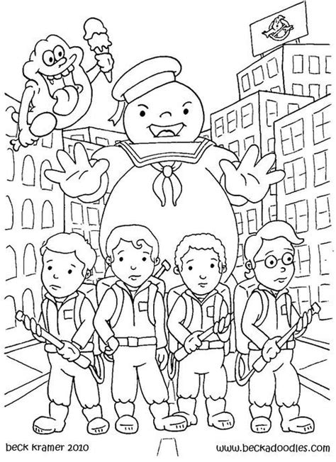 ghostbusters colouring pages vintage colouring