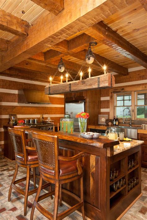log cabin kitchen house ideas decorating pinterest