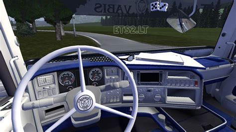 truck interieur styling scania blue interior ets 2 mods