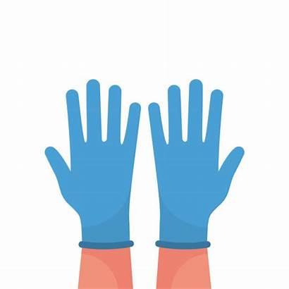 Gloves Protective Medical Icon Putting Glove Hands