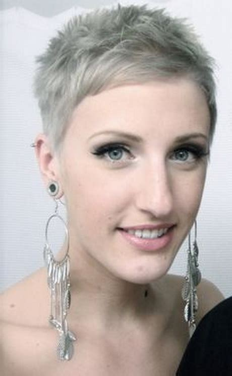 Hairstyle Very Short Haircuts for Gray Hair Women