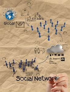 Hand Drawing Diagram Of Social Network Structure With