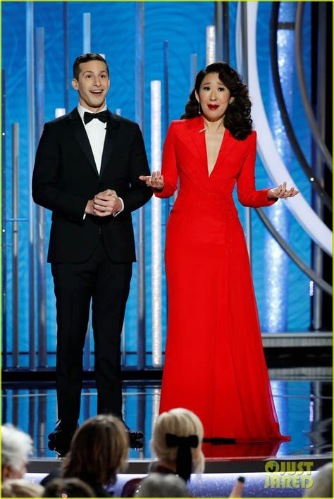sandra oh monologue andy samberg sandra oh dish out the nicest insults
