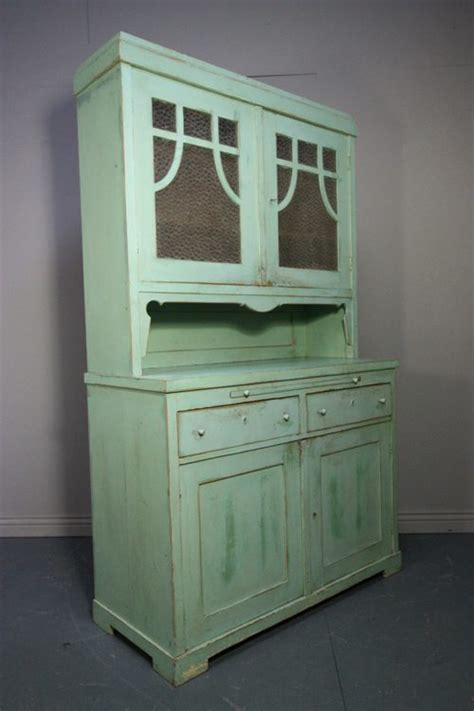 original antique painted pine kitchen dresser antiques