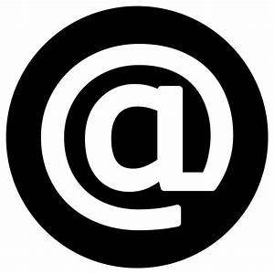 Clipart - Email Icon - White on Black