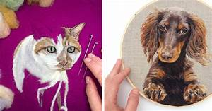 Incredibly lifelike felt paintings of pets and plants by for Lifelike felt paintings of pets and plants by dani ives