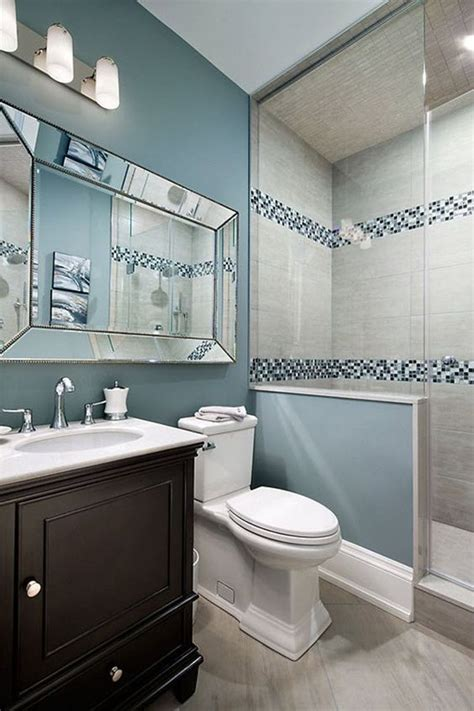 blue grey bathroom tiles ideas  pictures small