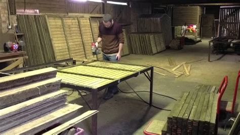 welding table for sale near me time lapse of making fence panels youtube