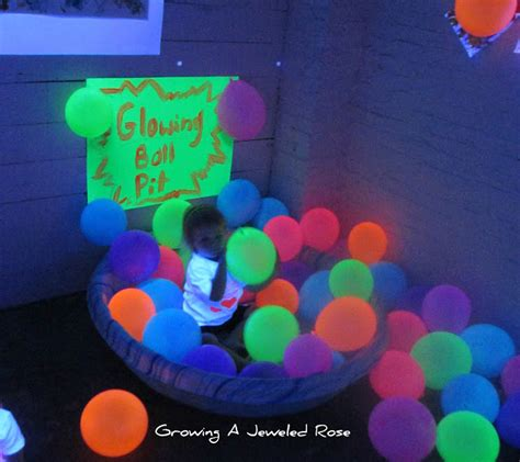 black light glow party black light themed group sensory play growing a jeweled rose