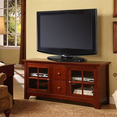 Walmart Patio Cushions For Chairs by Walker Edison 52 Inch Solid Wood Tv Stand With Drawers