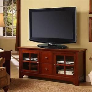 Table Tv But : walker edison 52 inch solid wood tv stand with drawers w52c2dwwb ~ Teatrodelosmanantiales.com Idées de Décoration