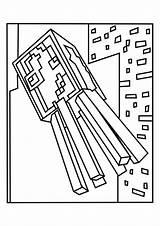 Squid Minecraft Coloring Printable Spider sketch template