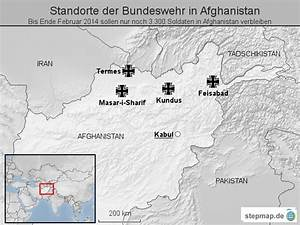 Standorte Der Bundeswehr : stepmap standorte der bundeswehr in afghanistan landkarte f r afghanistan ~ Watch28wear.com Haus und Dekorationen